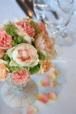 スウィートな夏の装花〜ビンテージジェラートと使って