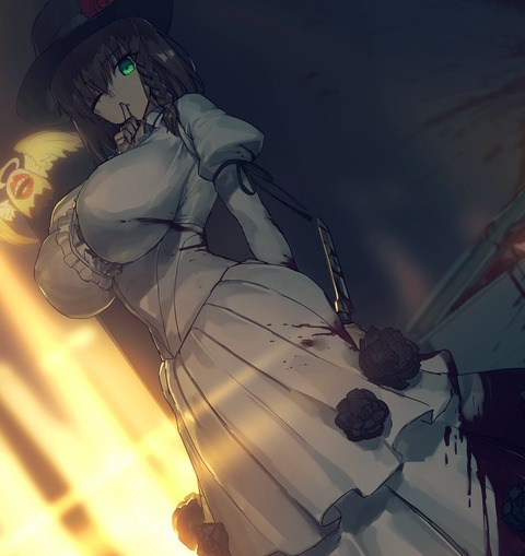 【FGO】シャルロットコルデー暗殺イラスト!! 怖すぎる....
