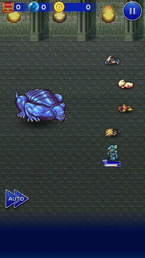 FFのアプリやってるけどバロン城の津波うってくる亀が倒せなくて詰んだ