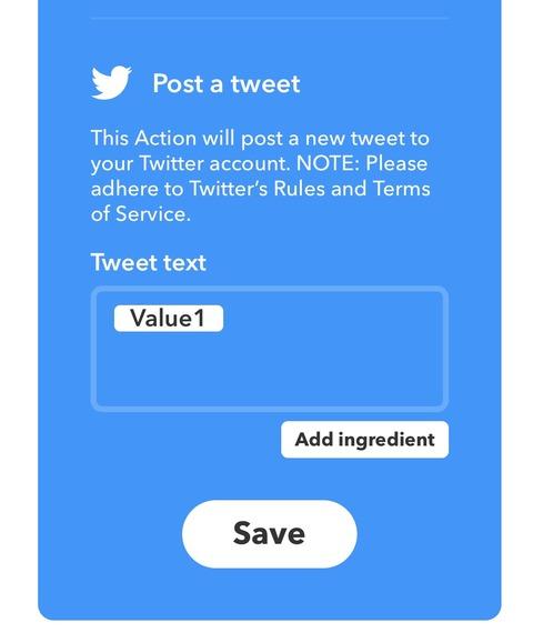 IFTTTのTwitter設定