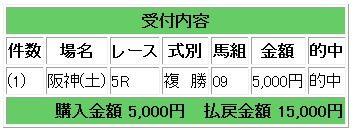 土阪神5複