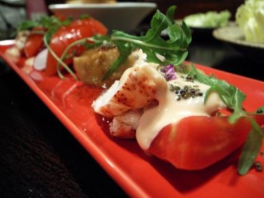 070522バルバリ鴨茄子とオマール海老のサラダ