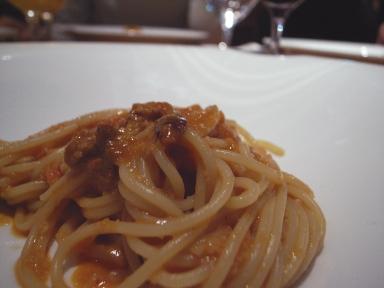 061115グットドール生うにのスパゲッティ