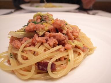 070127kiora水ダコと白菜のスパゲッティーニ