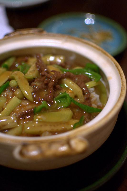 牛肉と茄子の土鍋ごはん01