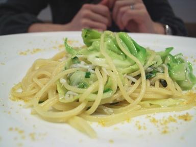 070127kioraしらすキャベツのスパゲッティーニ