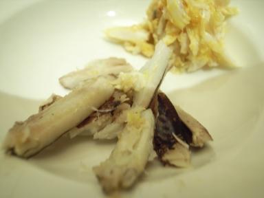 061012中国飯店カニの足と味噌