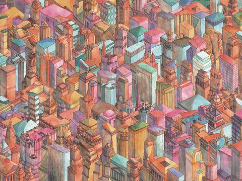 Brian Fooが描く色鮮やかなニューヨークの街