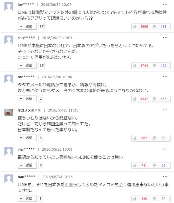 ヤフコメ民、LINEが韓国製だという記事で大発狂wwwwwwwwwwwww