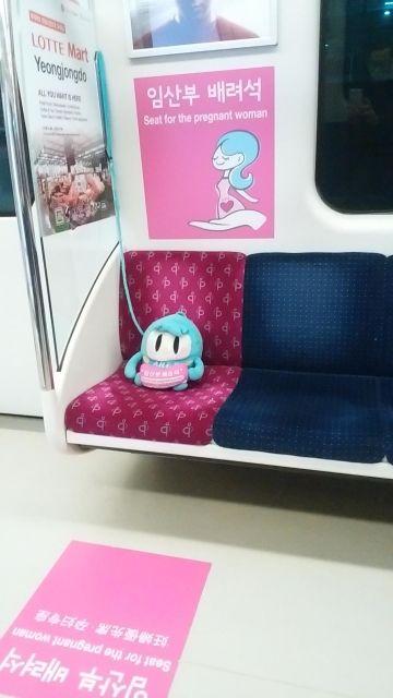 【画像】韓国の優先席がめちゃくちゃ有能だと話題に。日本も真似しろよこれ