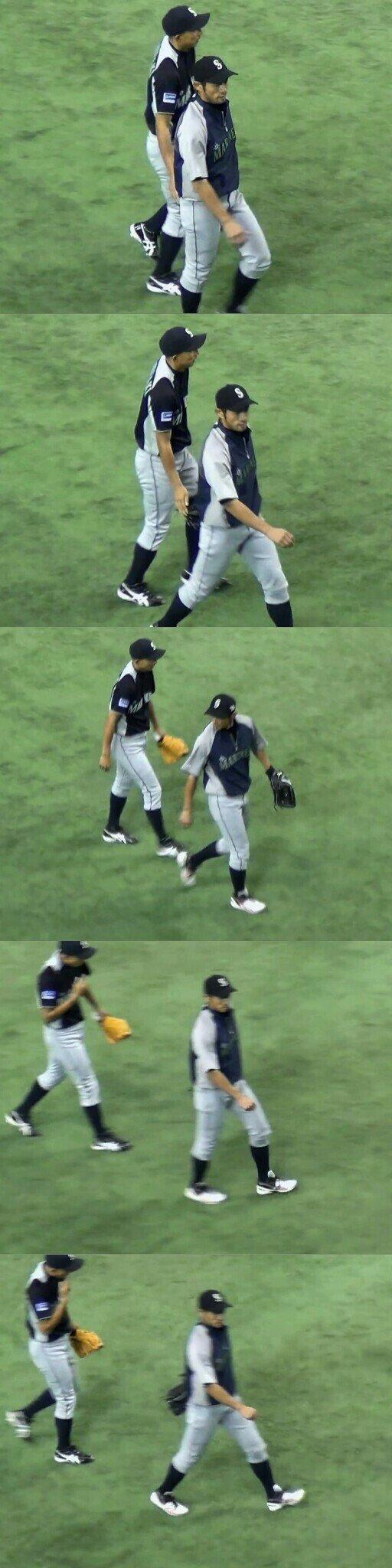 【奇行】川崎宗則さん、イチローの尻を触った手を舐める