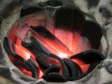 竹炭の燃焼