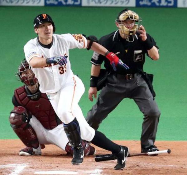 大田泰示 プロ8年間でマークした9本塁打に今季45試合の出場で並ぶ