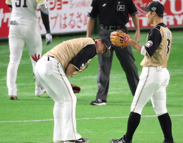 中田翔「まだ痛い。気分悪い。明日からは金カップつけるよ」