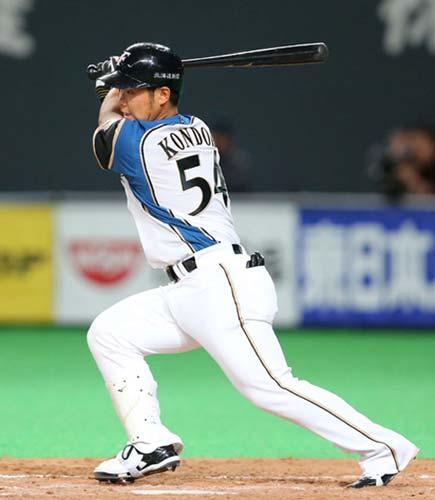 近藤健介 OPS1.045 盗塁阻止率.000