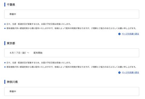【悲報】アベノマスク、閣議決定から1ヶ月も経つのにまだ東京以外で配布開始日すら決まらない