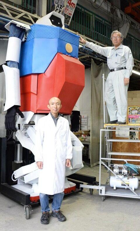大阪の下町工場が歩行可能な実物大ガンダムを作ってしまう!世界よこれが下町ガンダムだ!