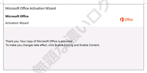 Microsoft Office Activation Wizard Thank you. Your copy of Microsoft Office is activated. To make you changes take effect, click Enable Editing and Enable Content