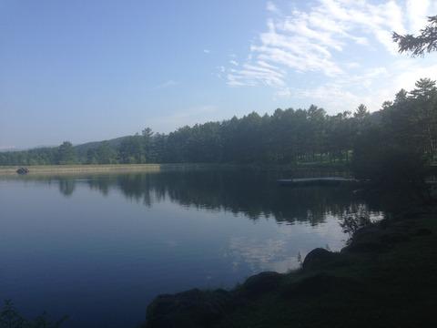 朝一槻の池