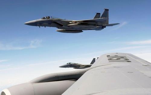 戦闘機から取った写真