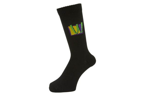 POISON SOCKS BLACK 1