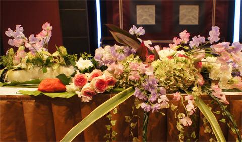 2014marchウエディング装花