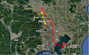 熊谷基地さくら祭地上ヘリ飛行経路
