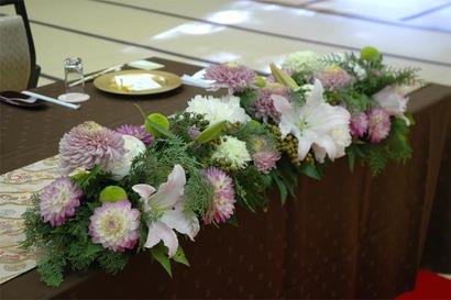 岩惣 披露宴装花 2011年11月21日