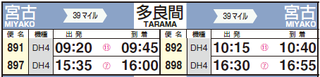 201910_JAL_MMY-TRA_Timetable