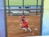 上野選手練習中