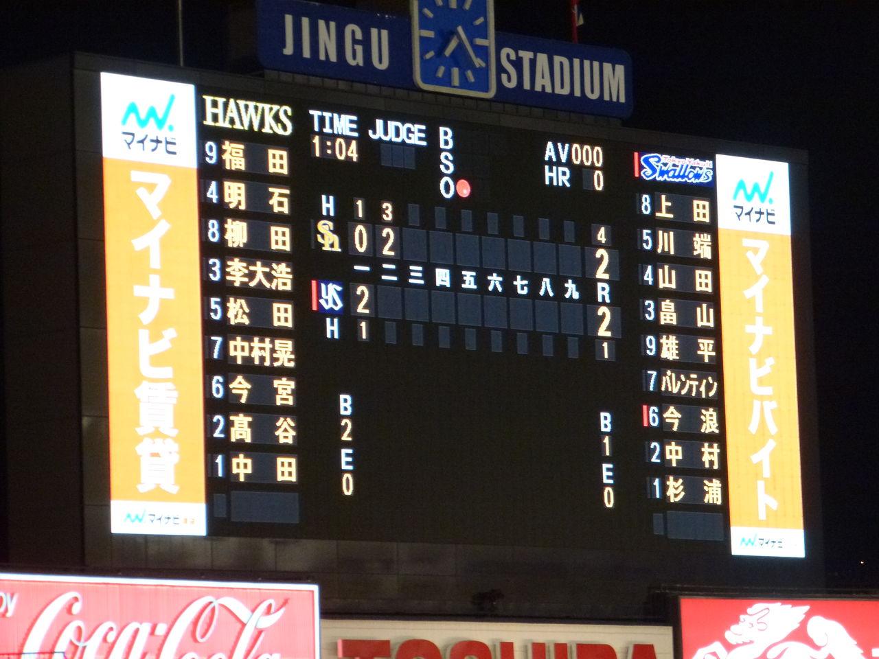 2015年プロ野球観戦記(10/27(火...