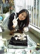 ゆか、レッツら焼き牡蠣♪