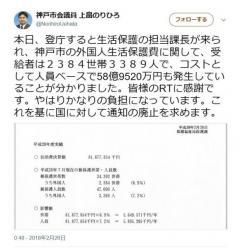 非公表だった「外国人世帯の生活保護費」約59億円と判明 神戸