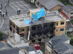 京アニ火災、死者33人に=確保の男、ガソリンまき「死ね」