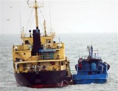北朝鮮船舶と「瀬取り」韓国船舶、初めて摘発される