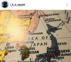 SPYAIR、SNSに「日本海」表記の地図で批判殺到 韓国語で謝罪