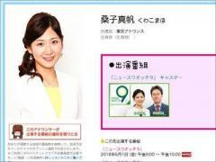 NHK・桑子真帆アナ、3月退社で「タモリの事務所入り」は既定路線か?