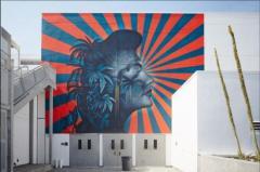 米の学校の「旭日旗」似の壁画 韓国人アーティスト団体が削除要請