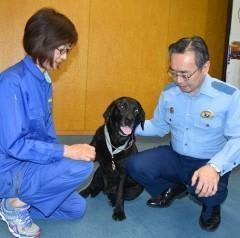 警察犬が不明少女をスピード発見