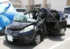 中学生5人の車が衝突、1人死亡 4人重傷、岡山市の国道30号