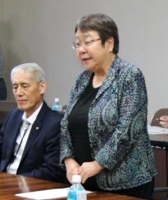女性市長、土俵下から「悔しい」