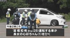 長岡市 スキー場の駐車場で父親の車にひかれ1歳の長女死亡