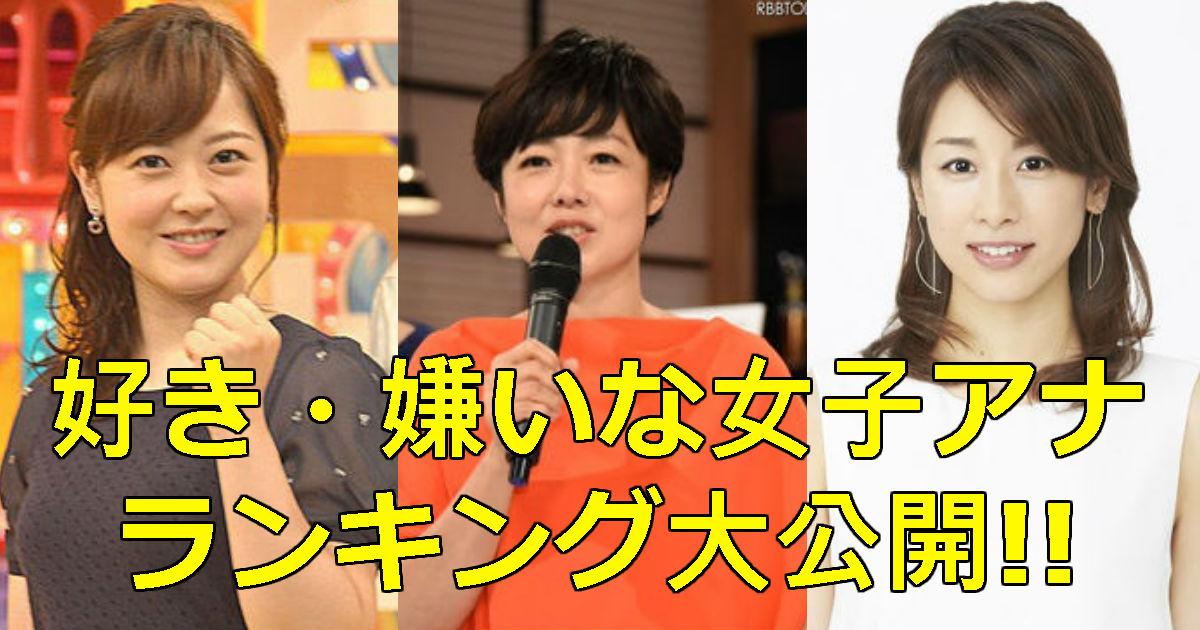 【芸能】「好きな女子アナ」ランキング『宇垣美里』が9位のランクで批判殺到