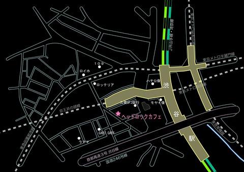 ★map_渋谷 ヘッドロックカフェ