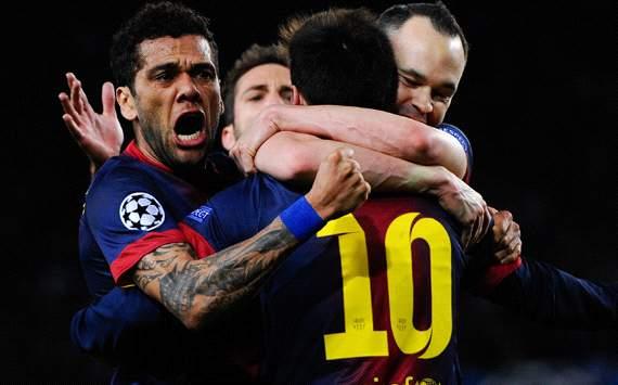 UEFA-CL決勝T1回戦2nd バルセロナ×ミラン、シャルケ×ガラタサライの結果