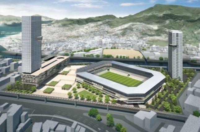 三菱重工と基本協定を結んだジャパネットHDが新スタジアム建設構想を改めて発表 2万3千人規模でホテルやマンションを併設