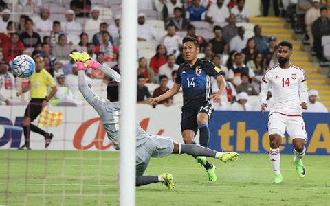 アジア予選UAE戦 久保が決めて日本先制