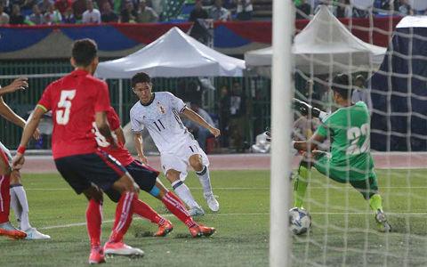 カンボジアに大苦戦も…U-20代表、MF遠藤先制弾&FW小松2戦連発弾で2連勝
