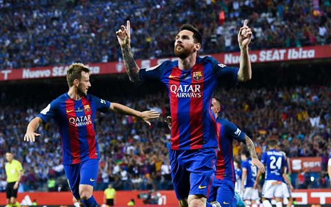 """今季""""欧州得点王""""はバルセロナのメッシ!通算4度目のゴールデンシュー獲得"""