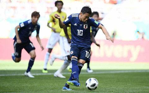 日本代表、香川PK弾&一発退場で攻勢!コロンビアも負けじとFKで追いつき同点で後半へ